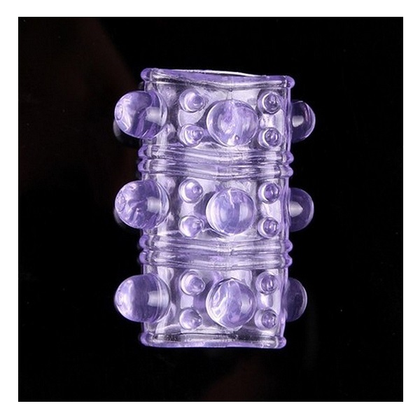 3415 – SILICONE PENIS RING SLEEVE – PURPLE