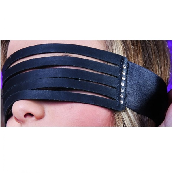 1429 – SECRET PLAY LEATHER STRIP BLINDFOLD 2