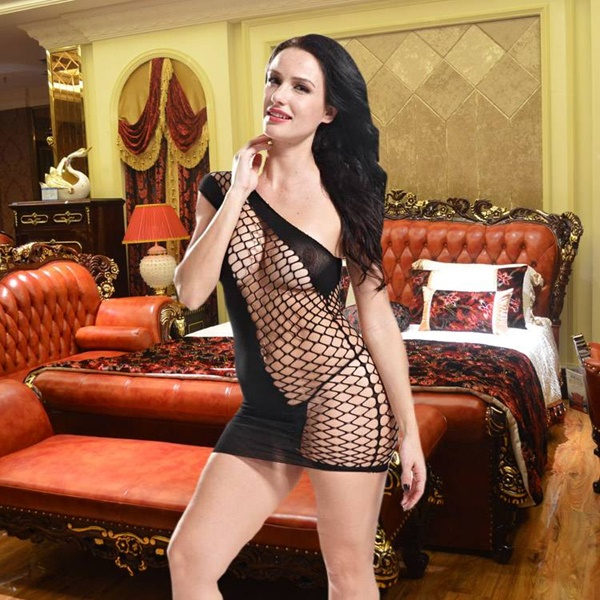 1505 – VAQUA – SEXY BODYSTOCKING MINI DRESS 8872 1