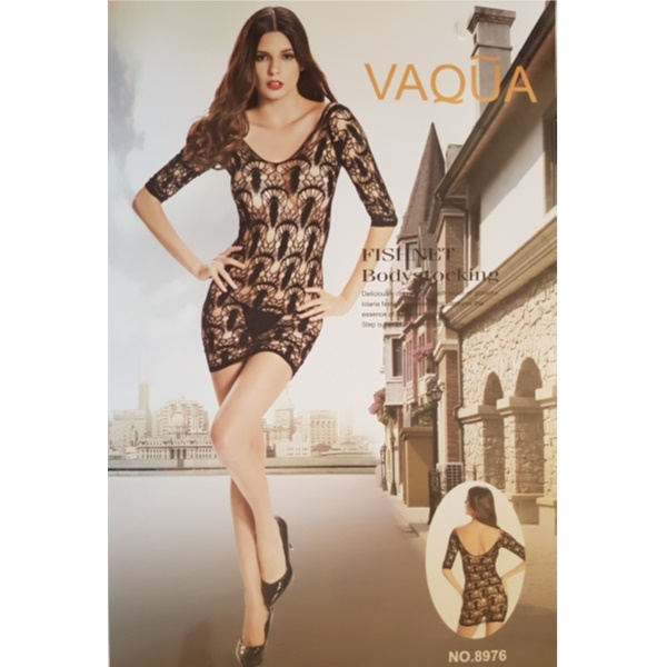 1505 – VAQUA – SEXY BODYSTOCKING MINI DRESS 8976 1