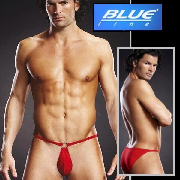 1839 – Blueline Performance Microfiber Pouch Bikini Red 1