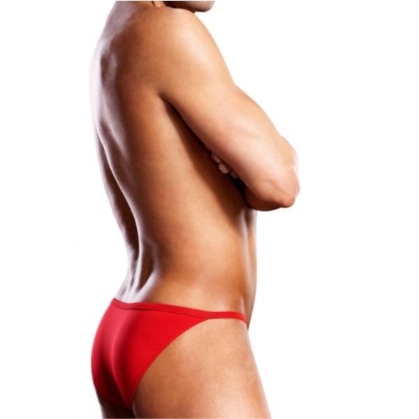 1839 – Blueline Performance Microfiber Pouch Bikini Red 3