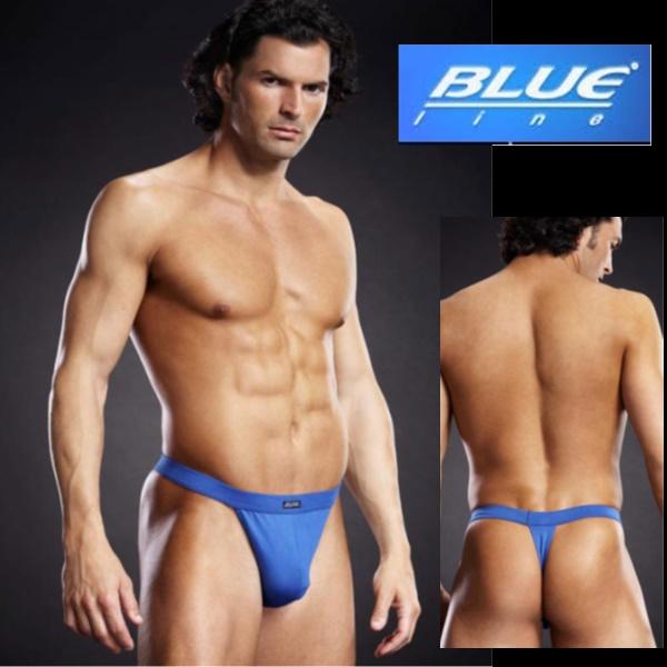 1840 – Blueline Performance Microfiber Thong Blue 1
