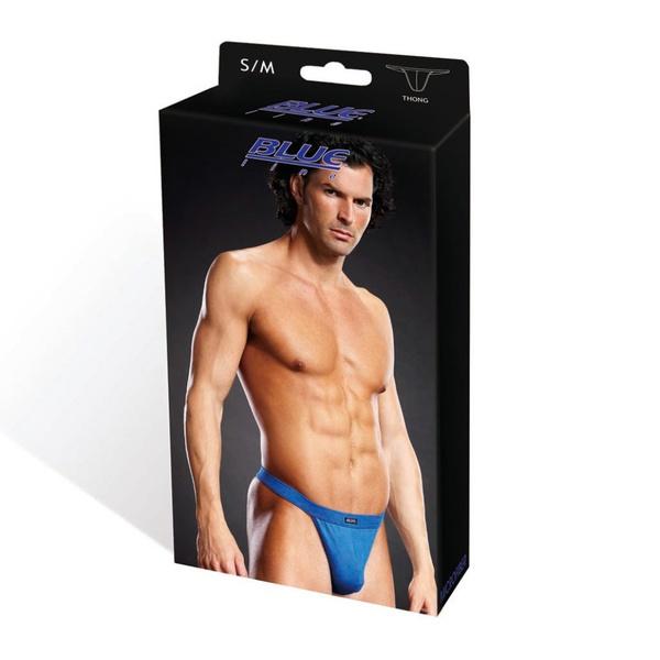 1840 – Blueline Performance Microfiber Thong Blue 4