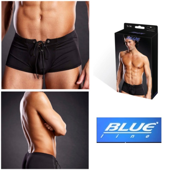 1841 – Blueline Performance Microfiber Lace-Up Trunk Black