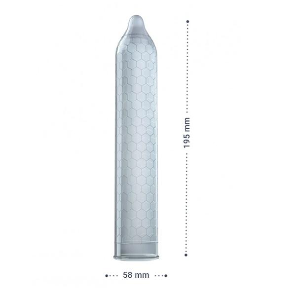 1013 – LELO HEX RESPECT XL CONDOMS – 3 PACK 4