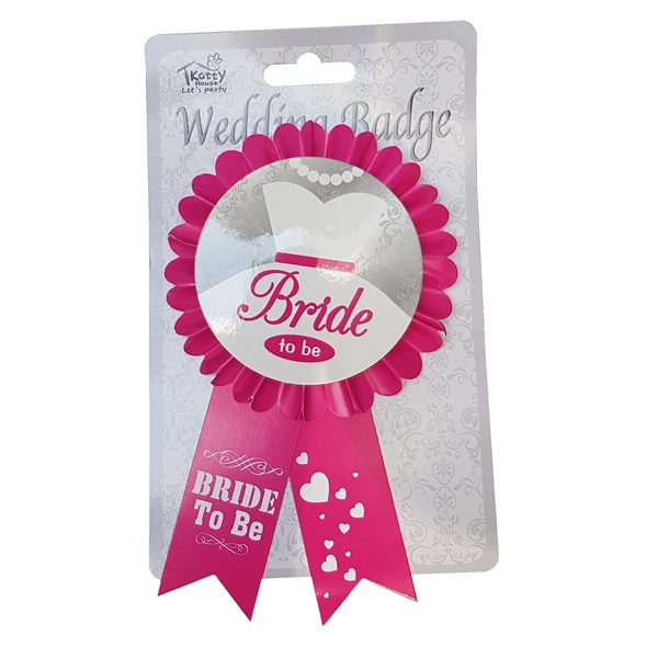 2105 – Bride to Be Paper Rosette Badge 1